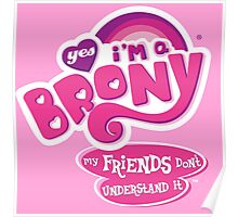 Yes I'm a Brony - My Little Pony Parody (Ver. 2) Poster