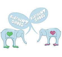 Elephant Shoes - Valentine's Day Card Photographic Print