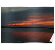 Sunset at Tobermory Poster