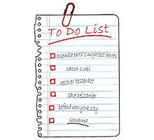 Avengers To Do List Photographic Print