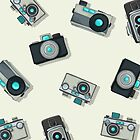 Vintage camera pattern by Richard Laschon