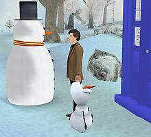 dr who vs olaf and friend by LokiLaufeysen