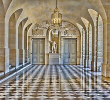 Lower Stone Gallery, Versailles Palace, France by Elaine Teague