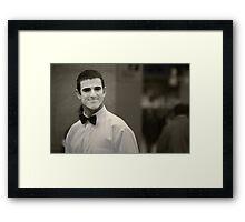 The Smiling Mime Framed Print