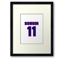 National football player Butch Songin jersey 11 Framed Print