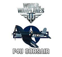 World of Warplanes F4U Corsair Photographic Print