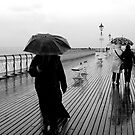 PENARTH PIER IN THE RAIN by kfbphoto