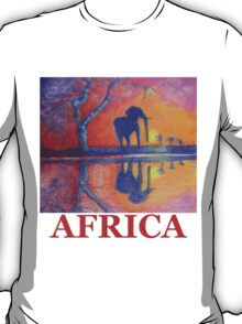African Landscape with Elephant T-Shirt