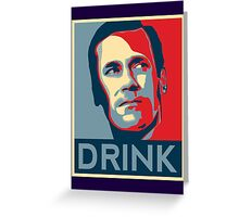 "Don ""Drink"" Poster Greeting Card"