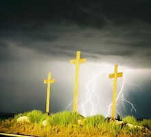 Lightning at the Crosses V by JocNAZ