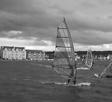 Windsurfers by Debbie Vine