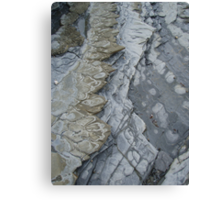 pretty patterned rocks on the foreshore at Wynyard  Canvas Print