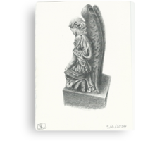 Weeping Angel Statue Canvas Print