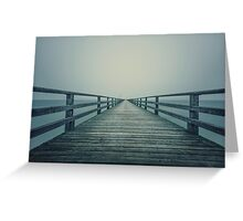 follow the line Greeting Card