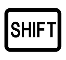 Shift button. by 2monthsoff