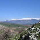 Mount. Hermon from Kfar Giladi by Ori Kaydar