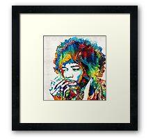 Jimi Hendrix Tribute by Sharon Cummings Framed Print
