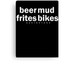 Cyclocross hoody Canvas Print