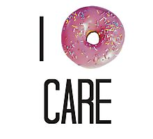 I donut care Photographic Print