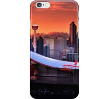 Calgary Skyline at Dusk iPhone Case/Skin