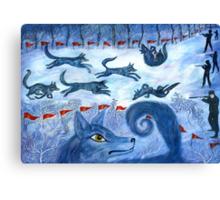 Hunting the wolf- Охота на волков Canvas Print