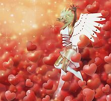 Valentine background with cupid 4 by AnnArtshock