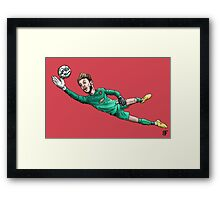 Diving Save Framed Print