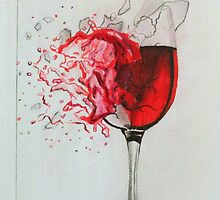 Smashing Wine Glass Art by BevsandBecka