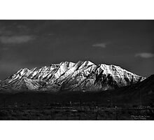 Mount Timpanogos-Black & White Photographic Print