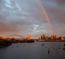 Rainbow City - Sydney Harbour Rainbow by Philip Johnson