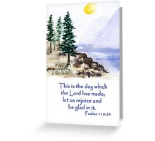 Thankfulness, Psalm 118:24  Greeting Card