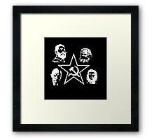 B&W Communism Framed Print