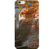 late Autumn sun streaming through the Dam iPhone Case/Skin