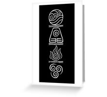 Avatar- The Four Elements Greeting Card