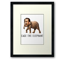 Nicolas Cage The Elephant Framed Print