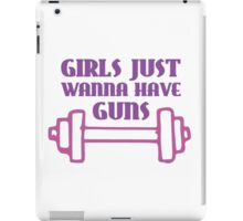 Girls Just Wanna Have Guns iPad Case/Skin