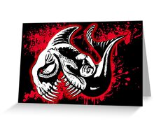 Feisty Fish Red and Black Greeting Card