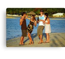 New Years Eve. Plantation Island Resort - Fiji Canvas Print