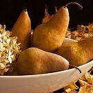 Pears And Hydrangea - Still Life  by Sandra Foster