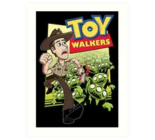 Toy Walkers (color) Art Print