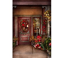 Winter - Store - Metuchen, NJ - Dressed for the holidays Photographic Print