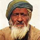 Old man in Gujarat, India by jensNP