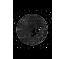 Warlord and green alien bike ride Photographic Print