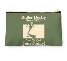 Roller Girl Recruitment Poster (Retro Green) Studio Pouch