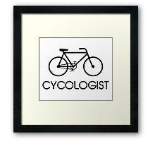 Cycologist Cycling Cycle Framed Print