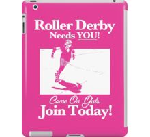 Roller Girl Recruitment Poster (Hot Pink) iPad Case/Skin