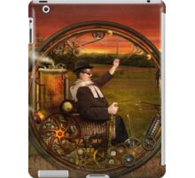 Steampunk - The gentleman's monowheel iPad Case/Skin
