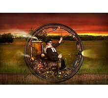 Steampunk - The gentleman's monowheel Photographic Print
