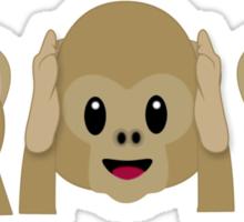 3 Wise Monkeys Sticker
