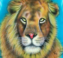 airbrushed lion by Airbrushr  Rick Shores